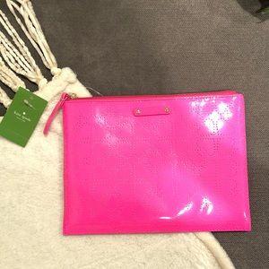 NEw Kate Spade Metro Spade large pouch Pinksaphre